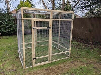 Poultry Panels 6ft x 6ft 19G Walk In Enclosure Aviary Run Chicken Rabbit Hens