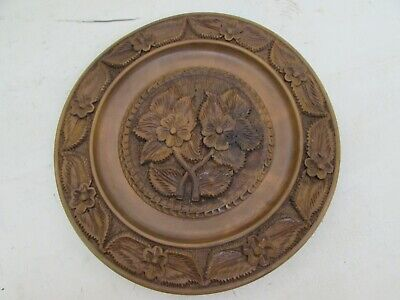 Vintage French Wooden Carved Plate / Tray / Bread Serving Board Wood Wall Hanger
