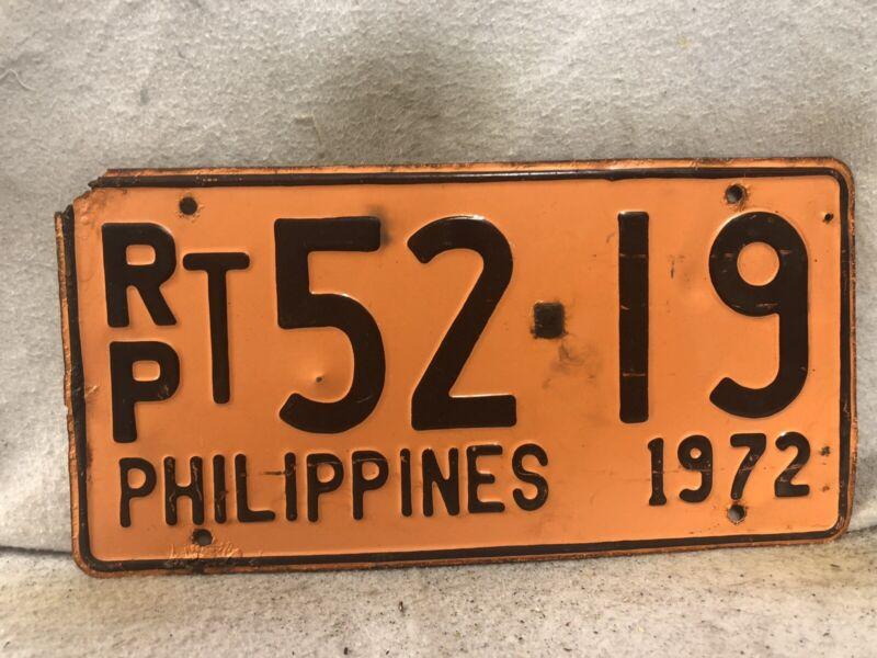 Vintage 1972 Philippines License Plate