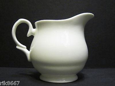 ¼ Pint Cream Jug Amber Shape white  English Fine Bone China By Milton China China Cream Jug