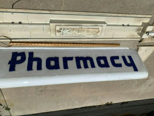 Pharmacy Vintage Collectable  Backlit Plastic Canopy Sign