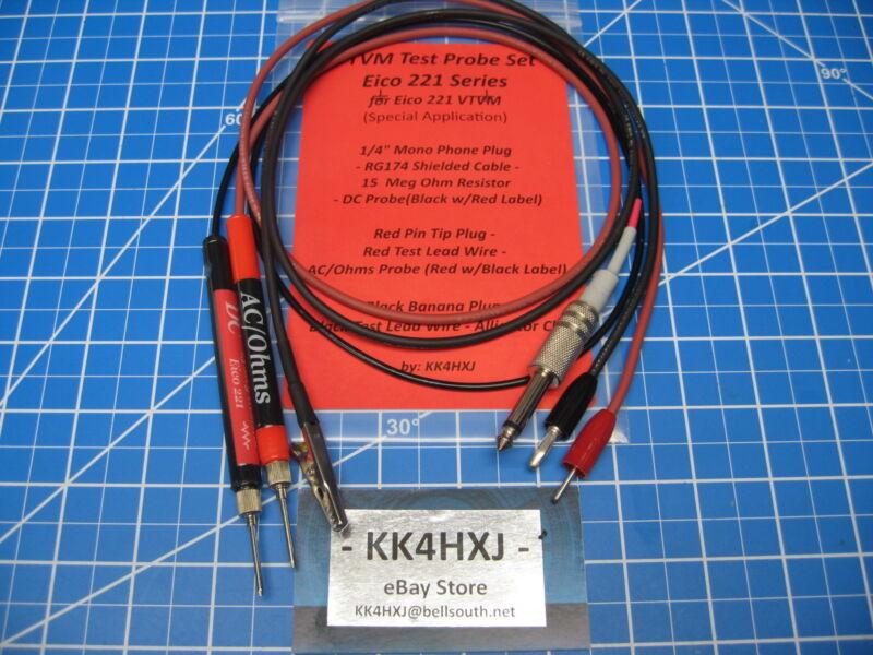 Custom VTVM Probe Set - Assembled - for Eico 221 VTVMs