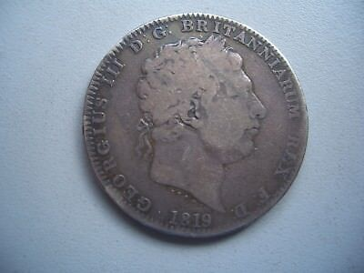 George 111 Silver Crown 1819 , LIX to edge
