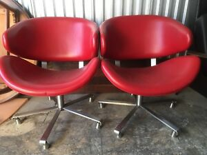 mid century modern swivel lounge chairs