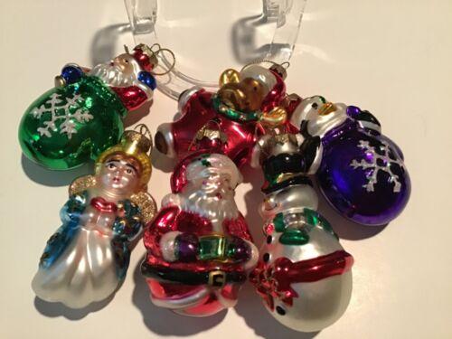 Lot of 6 Thomas Pacconi Blown Glass Christmas ORNAMENTS