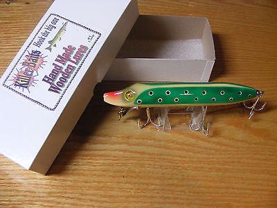 Killer Baits Rusty Jessee Heddon Style 8 Musky Glasseye Vamp in Green Lady Bug