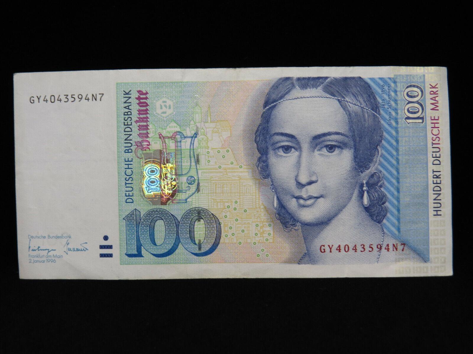 RECTO 100 Deutsche Mark Type 1996 - None