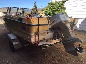 18' power boat 135 hp evinrude outboard