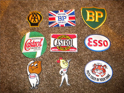 CHOOSE 6 ASSORTED MOTORING EMBROIDERED PATCHES, IDEAL FOR GOODWOOD REVIVAL