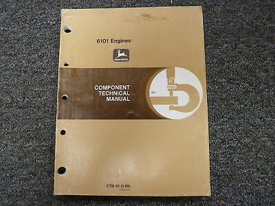 John Deere 8760 744e W 6101 6101hrw Engine Shop Service Repair Manual Ctm20