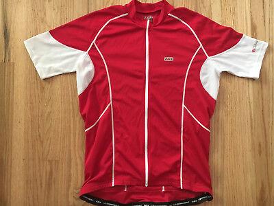 1e277174c Louis Garneau Red Cycling Jersey Racing Mens Adult L