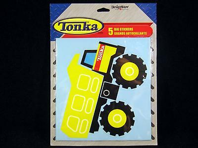 5 TONKA Truck Construction Big STICKERS Party Supplies Favor Decoration JUMBO - Tonka Truck Party Supplies