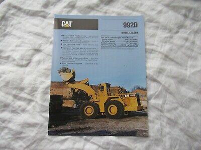 Cat Caterpillar 992d Tractor Wheel Loader Brochure