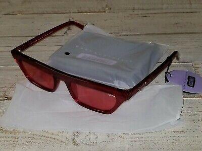 SALE NEW QUAY AUSTRALIA x Alissa Violet Finesse Sunglasses in Red