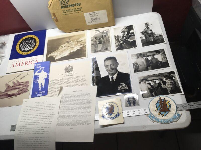 EDITH LEDERER VIETNAM WAR PHOTOS NAVY USA SHIP SIGNED JETS VA-82 BOMB CVA-66 1/1