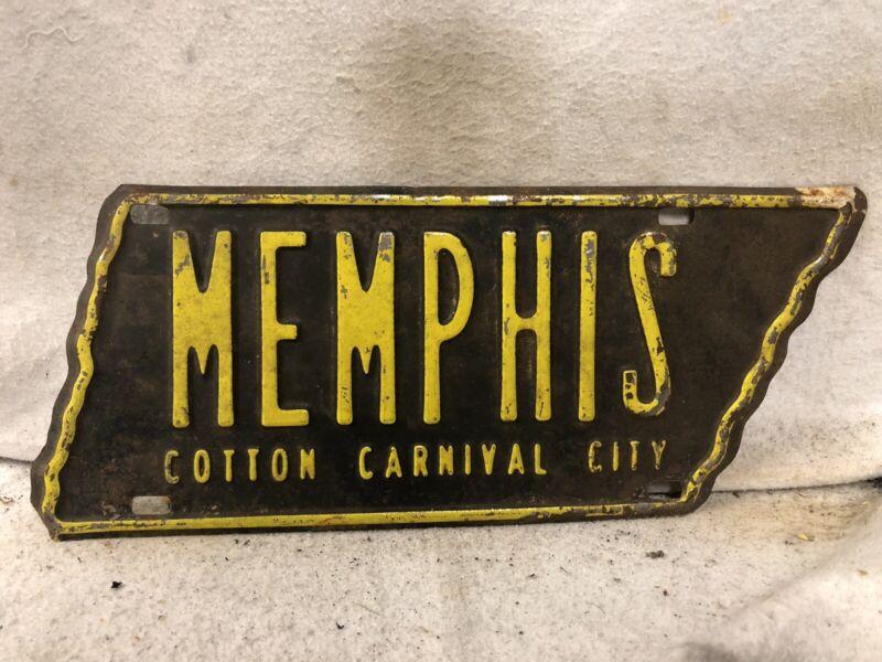 Vintage Memphis Tennessee License Plate