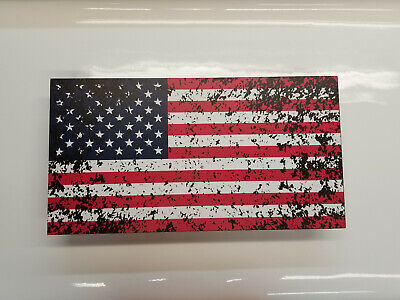 Tattered American Flag Concealment Cabinet Secret Hidden Storage Box Gun conceal