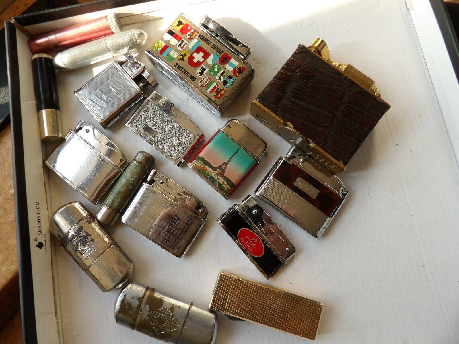 Lot de briquets essence vintage