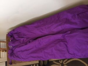 Columbia purple snow pants.