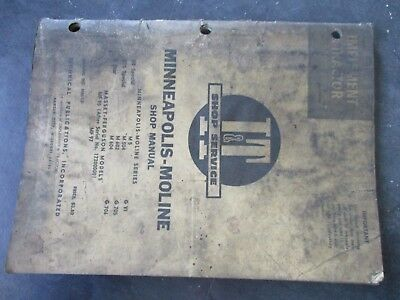 Minneapolis Moline Ub Special Uts Special 5 Star M5 Tractor Shop Manual