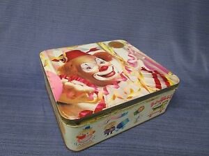 C42031 Vintage ARNOTTS Biscuit Tin CLOWN CIRCUS CARNIVAL Unley Unley Area Preview