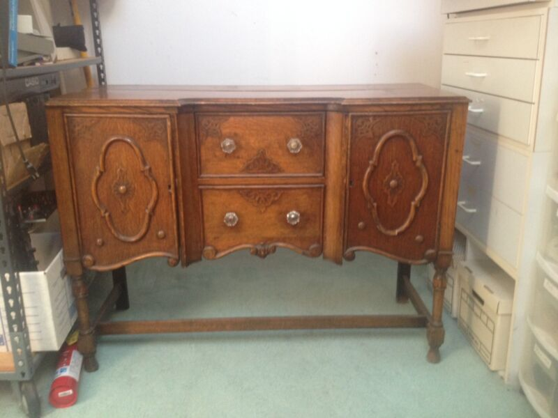 1920s Tudor style oak server/buffet