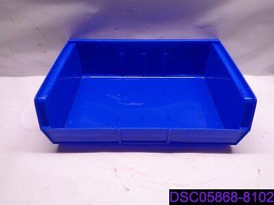 Qty 6 U-line Blue Stackable Storage Bin Pn S-13537blu