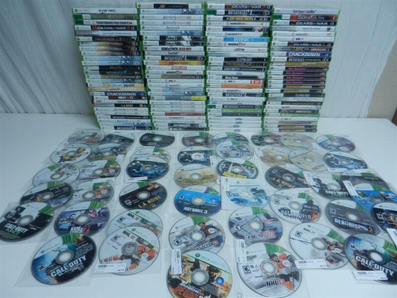 Lot of 156 Xbox 360 Games - Modern Warfare 2, Black Ops, Forza, Fallout 3
