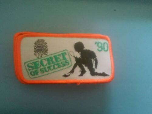 Ten (10)1990 Girl Scout Cookie Sale patch secret of success  NEW