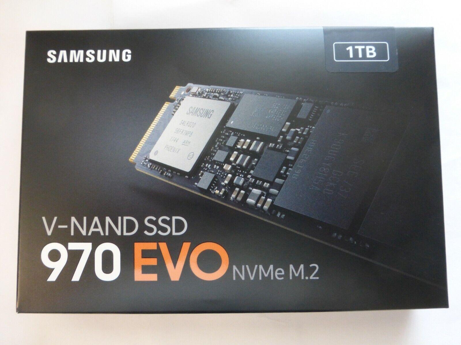 SAMSUNG 970 EVO M.2 1TB PCIe NVMe 3.0 x4 SSD MZ-V7E1T0BW