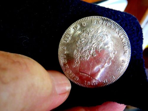 UNCIRCULATED  1820 George III LX Crown BEAUTIFUL COIN