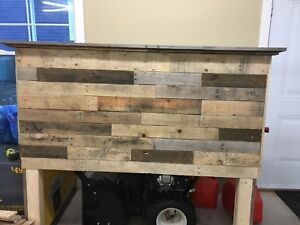 Queen Bed headboard- one of a kind!!