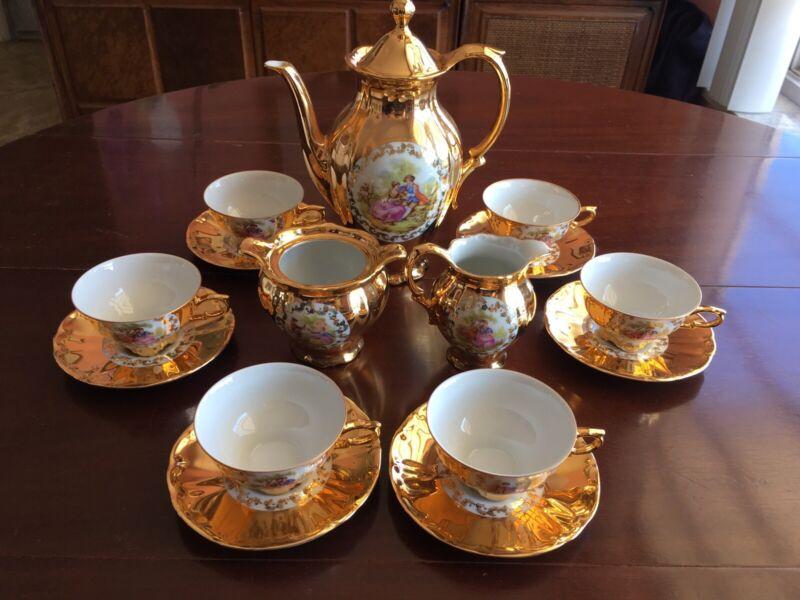Bareurher Waldssasen Vintage Tea Set Gold Bavaria
