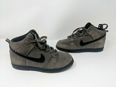 Nike Dunk High (GS) Big kids/ Youth Size 3Y- Dark Mushroom/ Black 308319 203