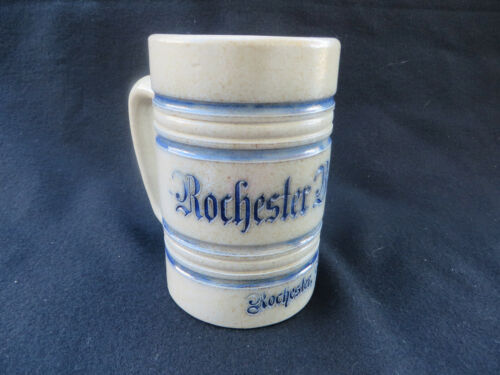 Advertising Salt Glaze Rochester Brew Co New York Stoneware Stein Mug 1900s