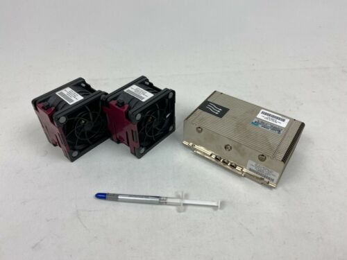 HP ProLiant DL380p Gen8 G8 CPU Heatsink & 2x Fan Kit // 662522-001, 662520-001