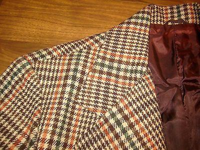 NEW Vtg 70s Vanderbilt Brown Glen PLAID Mens 42 Sport Coat Mod Jacket Blazer NWT