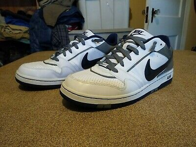 Nike Prestige III Classic White/Gray/Blue Leather Sneaker Shoes Men's 11.5 M Men Gray Leather