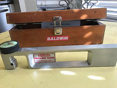 Vintage Baldwin Packing Gage Model 13651 In Wooden Storage Case