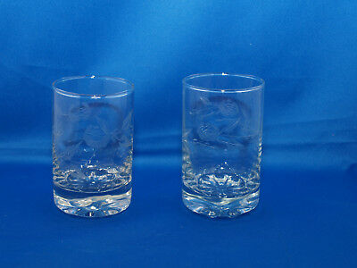 Whiskygläser,Wasserglas neuwertig, geschliffene Rosenmotive 6 Stck.