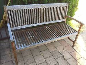 Old Solid Timber Garden Bench Beckenham Gosnells Area Preview