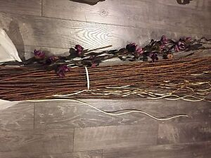 Decorative floor base twigs