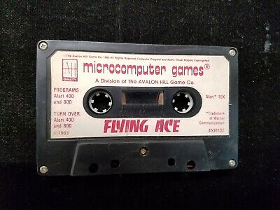 Vintage 1983 Microcomputer Games FLYING ACE Cassette Atari 400 / 800 Untested