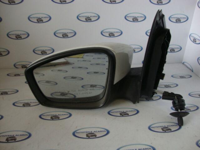 VW Polo 6R Außenspiegel Aussenspiegel vorne links Weiß Manuel 151