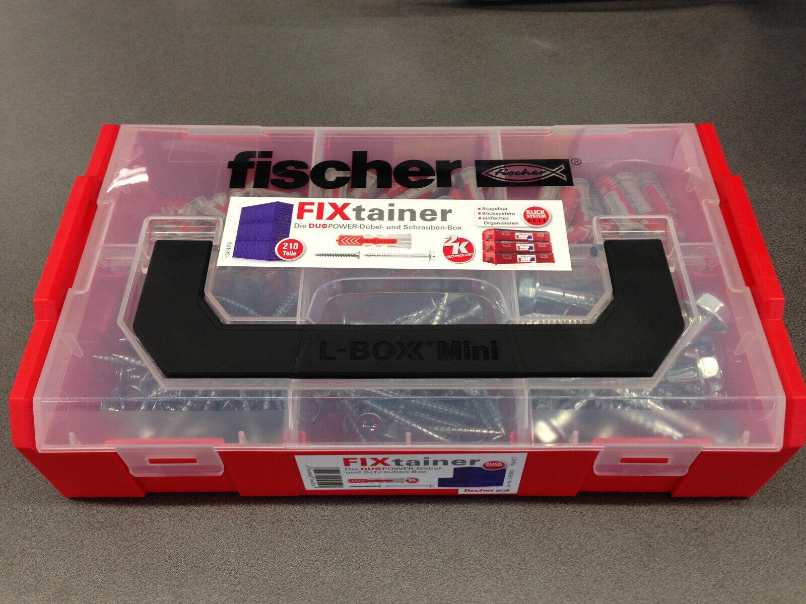 Fischer DUOPOWER Fixtainer 535968 Dübel Box 210-tlg.