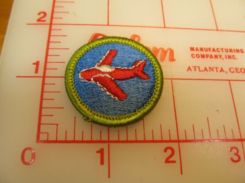 AVIATION merit badge plastic backed patch (oP)