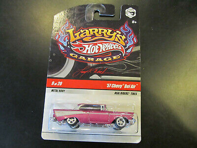 Hot Wheels Larry's Garage Chase '57 Chevy Bel Air Real Riders with Protector