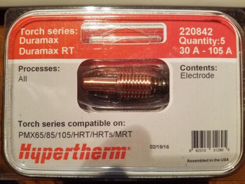 NEW Hypertherm Electrode, 5 pk, 220842, PMX65/85/105
