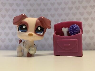Littlest Pet Shop - lps jack russell terrier #1200 great condition ♡ AUTHENTIC
