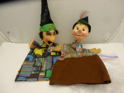 "11""  KERSA German Hand Puppets, Simsala &  Hansel? Tagged, Minty"